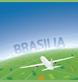 brasilia flight destination vector image vector image
