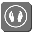 Care Hands Rounded Square Icon vector image vector image