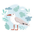 cartoon seagull navy vector image