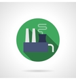 Chemical factory round flat icon vector image vector image
