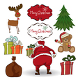 Christmas elements set isolated on white vector image vector image