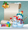 collection of cartoon snow card background vector image