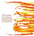 colorful abstract yellow and orange splashes vector image