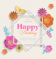 concept banner with paper art flowers eight vector image