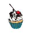 cup cake vector image vector image