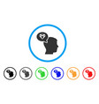 diamond thinking rounded icon vector image vector image
