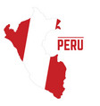 flag and map of peru vector image vector image