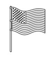 flag united states of america wave in flagpole and vector image vector image
