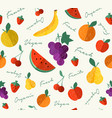 fresh organic fruit for vegan food seamless vector image