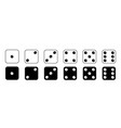 game dice set game dice isolated on white vector image vector image