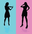 girl talking by mobile phone vector image vector image
