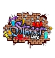 Graffiti word characters composition vector image vector image