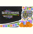 greeting card for dia de los muertos vector image