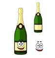 Happy green bottle of luxury champagne vector image vector image