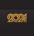 happy new year 2021 design with golden numbers vector image vector image