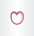 heart stylized icon line vector image vector image