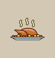 holiday baked turkey vector image
