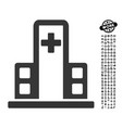 Hospital building icon with men bonus vector image