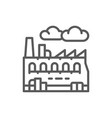 industrial factory plant line icon vector image