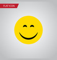 isolated joy flat icon smile element can vector image vector image