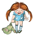 laughing girl vector image vector image