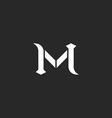 Letter M logo medieval style wedding invitation vector image vector image
