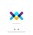 letter wa aw w a colorful logo design eps10 vector image vector image