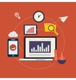 Market research icons vector image