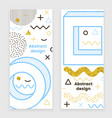 mempis banner set golden hipster design vector image
