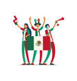 mexican flag mexico people vector image