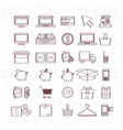 monochrome set of icons of buy and sell and vector image vector image