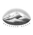mountain range hand draw vintage style black vector image