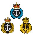 Navy cap badge vector image vector image
