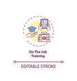 on-the-job training concept icon vector image vector image