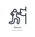 patriot outline icon isolated line from army vector image vector image