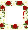red rose and white lily flower christmas beige vector image