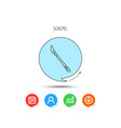 scalpel icon surgeon tool sign vector image