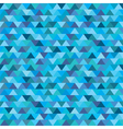 seamless blue zig zag triangle pattern vector image