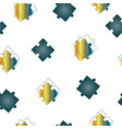 seamless pattern with blue puzzle pieces vector image