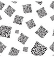 seamless qr code pattern abstract background vector image
