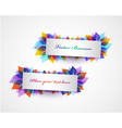 Set of banners with bright leaves vector image
