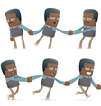 Set of teacher character in different poses