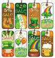St Patrick's Day labels vector image vector image
