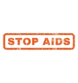 Stop AIDS Rubber Stamp vector image vector image