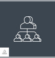 subordination related line icon vector image