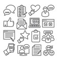 survey line icons set on white background vector image vector image