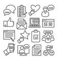 survey line icons set on white background vector image