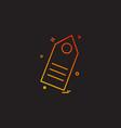 tag icon design vector image vector image