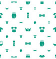 textile icons pattern seamless white background vector image vector image