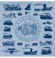 transportation antique set vector image